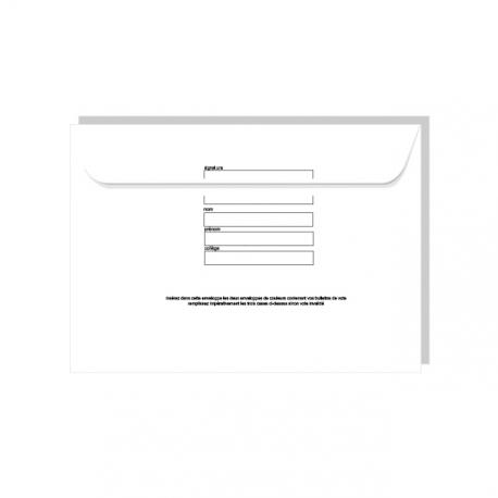 Enveloppe retour preaffranchie 162x229 avec certification au verso